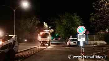 Viale Marconi, partito il restyling: si lavora di notte al rifacimento di strada e marciapiede