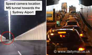 Driver points out the hidden speed cameras in the M5 motorway tunnel