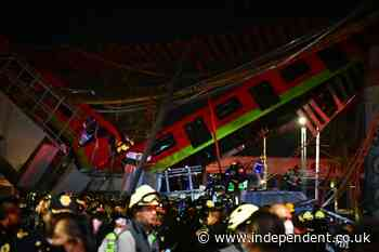 At least 20 dead as Mexico City subway overpass collapses