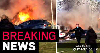 'One person trapped after gas explosion destroys house'