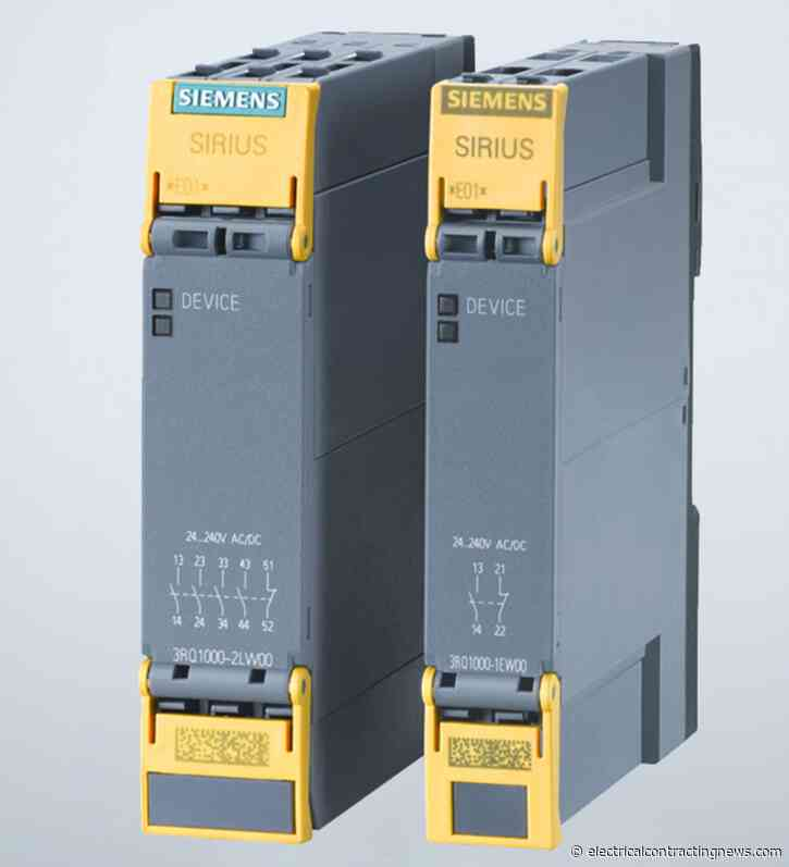 Siemens launches force-guided coupling relays for applications