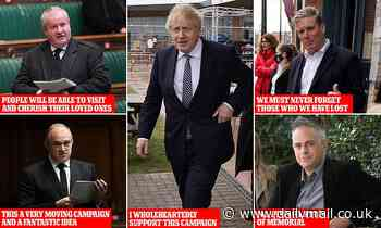 Boris Johnson vows to support campaign for Covid memorial - Daily Mail