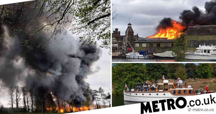 Historic ship used to save people from Dunkirk in WW2 destroyed in boatyard fire