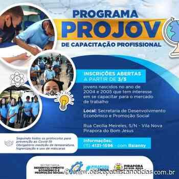 Inscrições abertas cursos gratuitos do ProJov em Pirapora do Bom Jesus - Portal Oeste Paulista