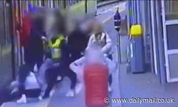 CCTV shows moment woman pushed on rail tracks in Dublin