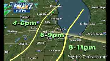 Chicago Weather: Severe storms possible Monday, main threat south of I-80 - WLS-TV