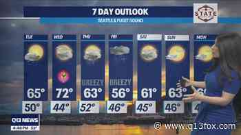 More wet weather this week as temperatures fluctuate - Q13 FOX (Seattle)
