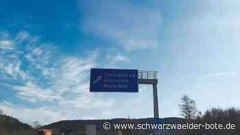 A 81-Abfahrt bei Oberndorf - Autobahn GmbH: So kommt Alpirsbach auf das Schild - Schwarzwälder Bote