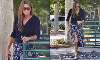 Caitlyn Jenner heads out to Starbucks ahead of Hannity interview