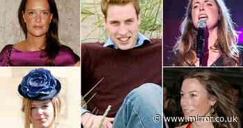 Prince William's ex-girlfriends - including woman who made awkward Kate remark