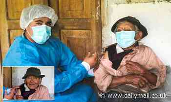 Peru medics give '121-year-old' man a Covid-19 jab