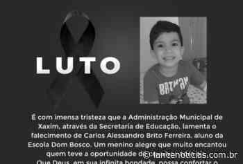 Secretaria de Educação de Xaxim emite nota de pesar por falecimento de aluno - Lato
