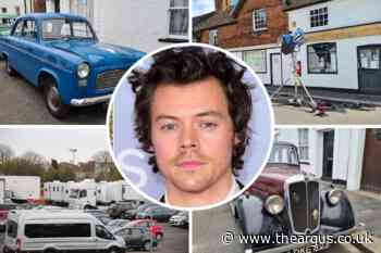 Harry Styles spotted filming My Policeman in Worthing