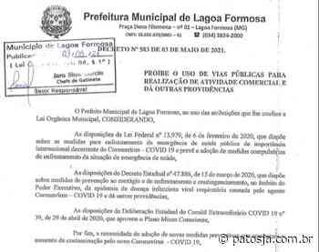 Após aglomeração em bar, prefeito de Lagoa Formosa endurece regras de combate a Covid-19 - Patos Já