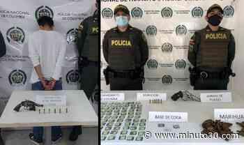 Capturaron a uno en Cocorná con arma de fuego y en La Pintada incautaron droga y una pistola - Minuto30.com