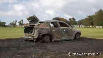 Stolen car found ablaze in Geraldton - The West Australian