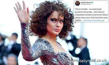 Bollywood actress Kangana Ranaut accuses Twitter of racism after her account is suspended