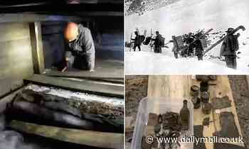 WWI Austro-Hungarian White War troops' barracks emerges on Italian mountain as ice melts