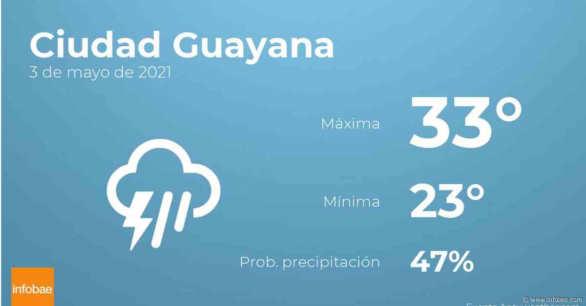 Previsión meteorológica: El tiempo hoy en Ciudad Guayana, 3 de mayo - infobae