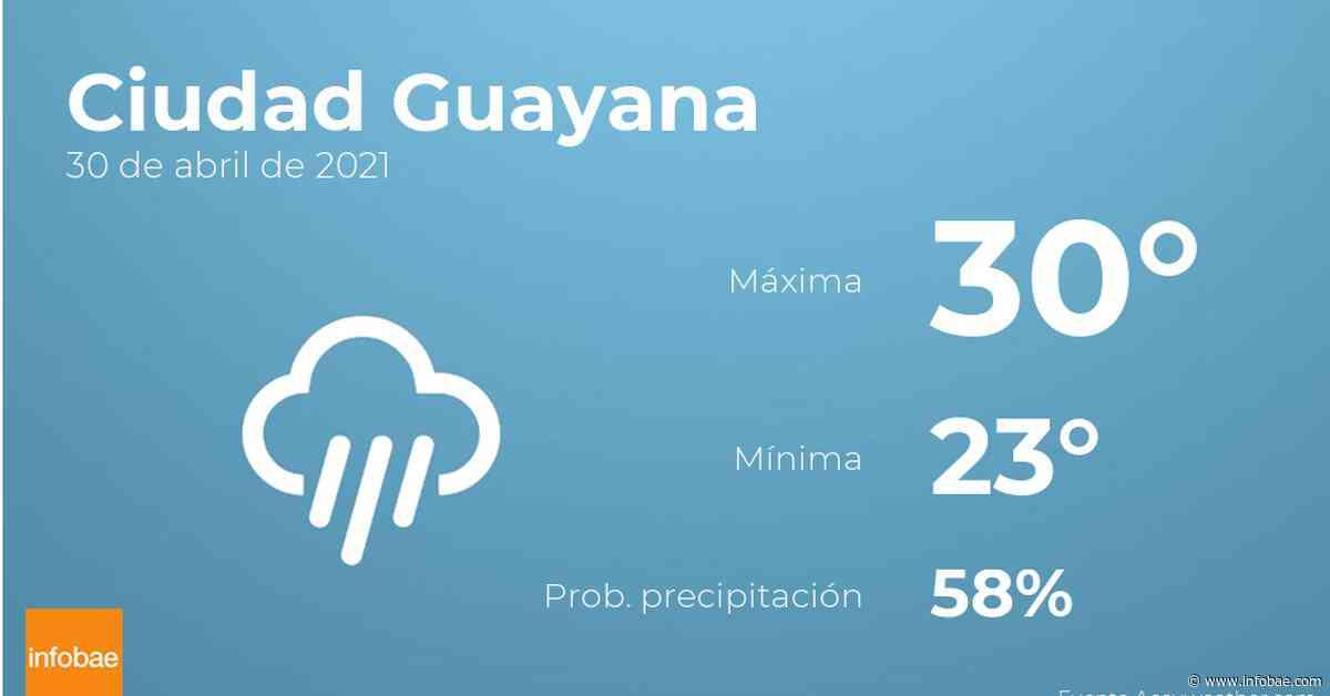 Previsión meteorológica: El tiempo hoy en Ciudad Guayana, 30 de abril - infobae