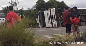 Caminhão tomba em Brejo Santo e outros acidentes em Crato e Várzea Alegre - Site Miséria