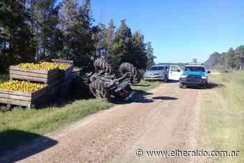 Vecino de Villa del Rosario sufrió grave accidente con su tractor y fue hospitalizado - elheraldo.com.ar