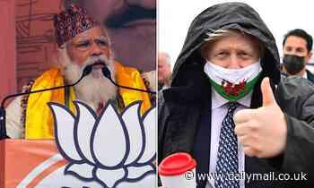 Boris Johnson and Narendra Modi pledge to double UK-India trade