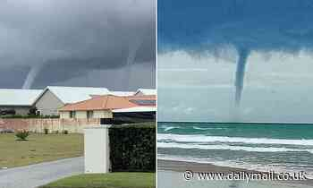 Incredible water spouts off Australia's east coast in NSW mid north