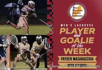 Men's Lacrosse: Masaracchia and Kandra Named GNAC Weekly Award Recipients - norwichathletics.com