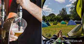 Pubs are opening their own camping and caravan sites for the summer holidays
