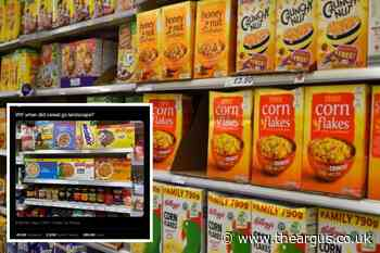 Shoppers baffled over landscape cereal boxes picture