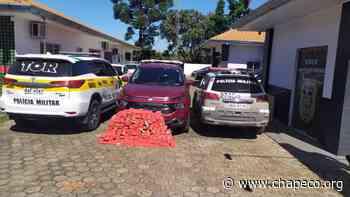 Ação conjunta apreende 150 kg de maconha na SC 160 em Pinhalzinho - Chapeco.Org