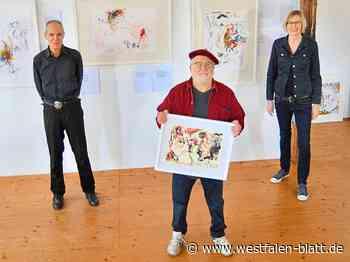 """Alexander Kapitanowski installiert Bilder-Zyklus """"Europa und der Stier"""" im Gerbereimuseum Enger: Eine Ausstellung, die vorerst keiner sieht - Enger - Westfalen-Blatt"""
