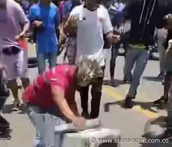 Destruyen sistema de fotomultas durante manifestaciones en Corozal - El Universal - Colombia