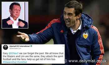 Valencia fans call on Gary Neville to 'help them get rid' of billionaire owner Peter Lim