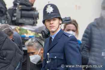 Harry Styles spotted in Brighton on set of My Policeman