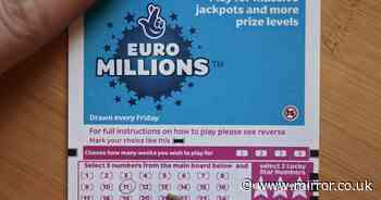 Tuesday's winning EuroMillions Lotto numbers for £46million jackpot