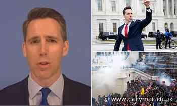 Josh Hawley defends his fist pump before the Capitol riot