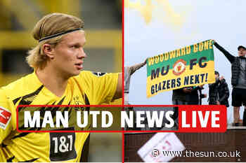 Man Utd fan Old Trafford protests LATEST, Gary Neville calls Prem owners 'LAWLESS' – Jadon Sancho transfer... - The Sun