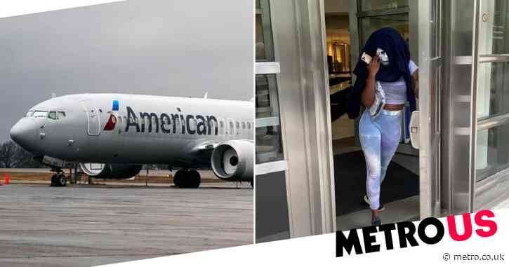 Unemployed woman 'punches flight attendant and tries to pull her dress off'