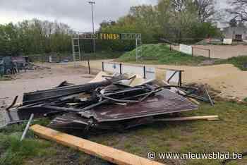 Clubhuisje aan BMX-parcours in Boseind vernield door rukwinden