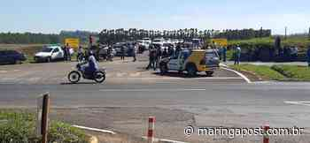 Moradores de Mandaguari protestam contra o fechamento da Estrada Terra Roxa - Maringá Post