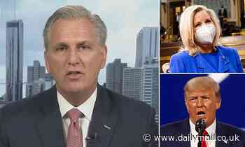 House Republican leader Kevin McCarthy says colleagues are 'concerned' Liz Cheney can't do her job