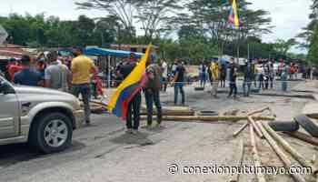 Protestas mantienen cerrado el paso vehicular sobre la vía Mocoa – Pitalito - Conexión Putumayo