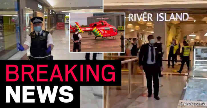London shopping centre evacuated after man stabbed to death