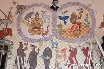 Inauguran en Izamal mural 'Infinito de quetzales en el mundo de venados' - Canal 10