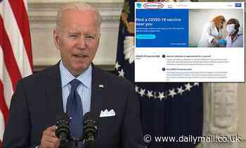 Biden repeatedly says 'vaccine.gum' when promoting new shot website
