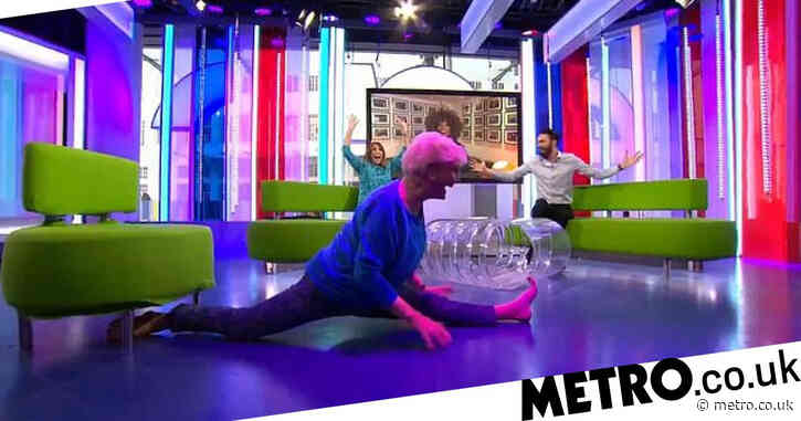 Angela Rippon, 76, wows us all as she does splits on live TV