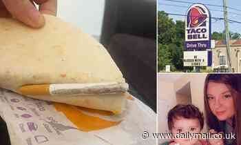 Florida mom 'finds damp cigarette stuck to Taco Bell meal while feeding it to her daughter, 1'