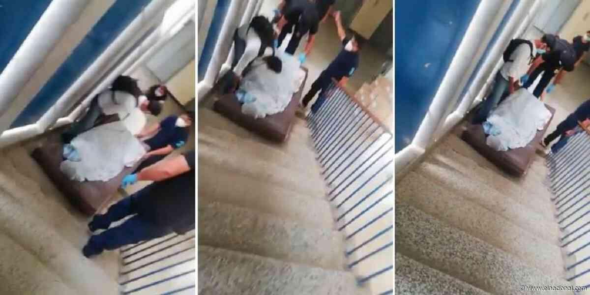 En el Hospital de Maracaibo tienen que arrastrar por las escaleras a los fallecidos por covid-19 - El Nacional